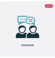 two color discussion icon from strategy concept vector image vector image