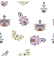 Types of castles pattern cartoon style vector image vector image