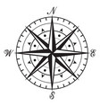 vintage black and white compass vector image vector image