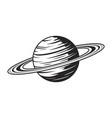 vintage saturn planet concept vector image vector image