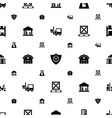 warehouse icons pattern seamless white background vector image vector image