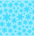 white snowflakes on gradient background seamless vector image vector image