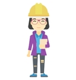 Woman holding tablet vector image vector image