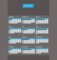 year calendar 2019 office vertical design vector image