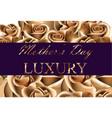 golden rose flower card background vector image