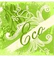 eco design card vector image
