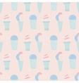 sweet ice cream pattern vector image