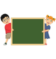 Of Cute Children Holding Board vector image
