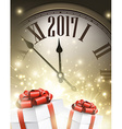 2017 New Year background vector image vector image