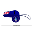 A Blue Whistle of Tristan da Cunha vector image