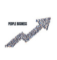 a group people are getting to business arrow vector image vector image