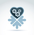 a mechanical heart Love machine icon wit vector image vector image
