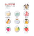 Allergens flat icons set vector image vector image