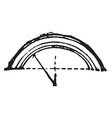 arch stones vintage engraving vector image vector image