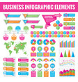 big set business infographic elements vector image vector image