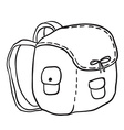 black and white camping bag vector image vector image