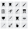 black dental icon set vector image vector image