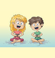 boy and girl playing vector image vector image