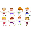 Boys and girls holding blank banner vector image vector image
