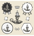 Candle vintage symbol emblem label collection vector image vector image