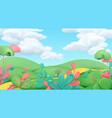 cartoon spring landscape art 3d background vector image