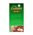Casino background vertical banner flyer vector image