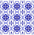 ceramic pattern blue and white vector image
