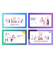 chemistry science landing page templates vector image