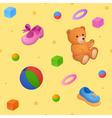 Childish background vector image