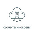 cloud technologies system line icon linear vector image vector image