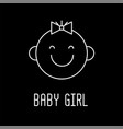cute baby face line icon outline symbol vector image