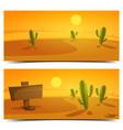 Desert Banners vector image vector image