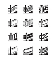 Different types of railings vector image vector image