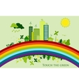 environmental conservation cities green city vector image vector image