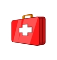 First aid kit icon in cartoon style vector image vector image
