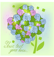 Floral decorative background with hydrangea EPS10 vector image vector image