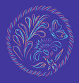 floral decorative vector image