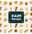 food pattern pizza burger bakery ice cream backgro vector image vector image