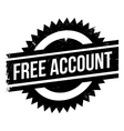 Free account stamp vector image vector image