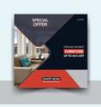 furniture sale social media banner design vector image vector image