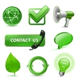 green web icons vector image vector image