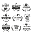 Hand Drawn Coffee Label Set vector image