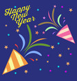 happy new year confetti vector image