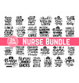 huge nurse bundle 24 svg files for cutting mach vector image vector image