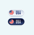 in 3d style for united states vector image vector image