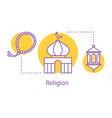 islamic culture concept icon vector image