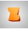 Letter Z comic style font EPS10 vector image