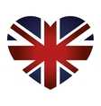 london city flag in heart shape vector image