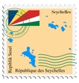 mail to-from Seychelles vector image