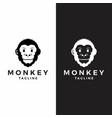 monkey head logo graphic ape animal vector image vector image